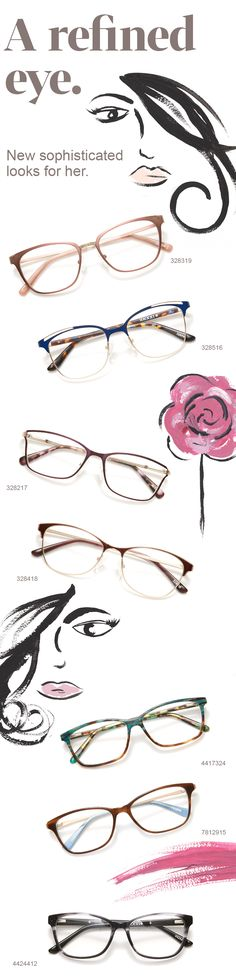 9f006315a62 Add instant polish to your look with our new sophisticated eyewear styles.  New Glasses