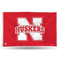 Outdoor Décor-NCAA Nebraska Cornhuskers Banner Flag 3Foot by 5Foot ** You can get more details by clicking on the image.