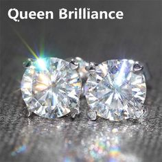 573c0dc4b76 585 White Gold Screw Back 2 Carat ctw F Color Test Positive Lab Grown  Moissanite Diamond Earrings For Women - Lady Shop - Store for the woman