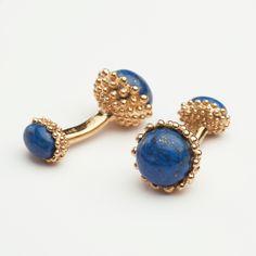 Lapis Lazuli Golden Acorn Cufflinks