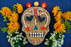 Dia De Los Muertos Caramel Chocolate Almond Rice Krispie TreatDelish