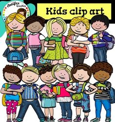 *50% off for the first 48 hours*Kids with backpacks and books clip Art set features 22 items: 11clip arts in color. 11 clip arts in black & white.All images are 300dpi, Png files.This clipart license allows for personal, educational, and commercial small business use.
