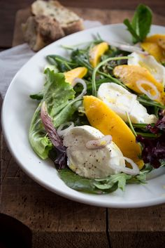 Mango Caprese Salat {flowers on my plate}