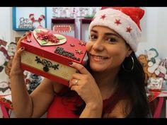 Especial de Natal #1 | Caixa com apliques e Stencil - YouTube