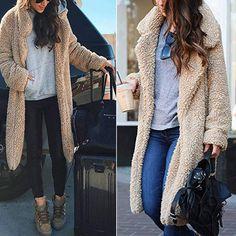 489f62b2f6041 Plus Size 3XL Winter Women Lamb Fur Coat Thicken Warm Fur Long Sleeve  Overcoat Loose Casual