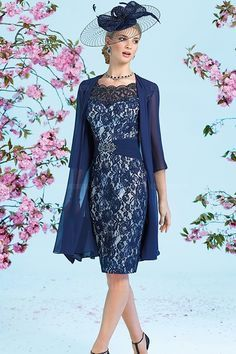 Sheath/Column Scoop Sweetheart Knee-length Lace Mother of the Bride Dress