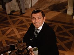 """Clark Gable """"Gone with the Wind"""" Love this scene."""