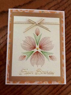 Embroidery Birthday card