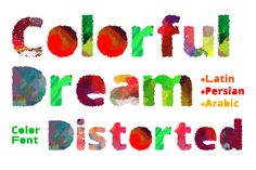 Colorful Dream Distorted is a fun color font! This font has a watercolor vibe to it, and looks stellar in...