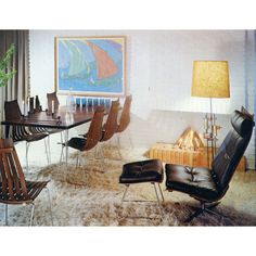 Hans Brattrud - Dining Chairs, Table, Lounge Chair & Ottoman, 1960s