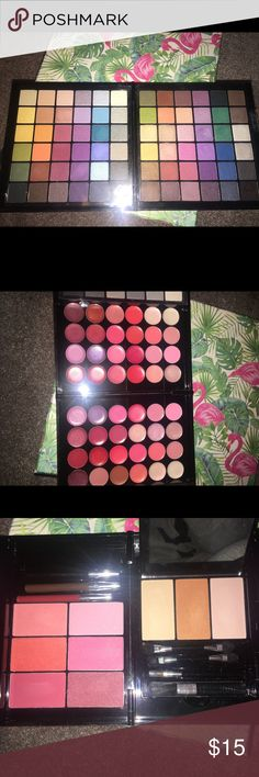 MAKEUP BUNDLE Wet N Wild Fergie collection makeup box! Contains 72 eyeshadows, 48 lip colors, 6 blush, 2 contour highlight powders and 3 eyeliners!!!!!!  Retail price 27$ wet n wild Makeup