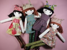 Cloth doll rag doll pdf pattern with detailed instructions - Jenny by Pupadou on Etsy https://www.etsy.com/listing/93049618/cloth-doll-rag-doll-pdf-pattern-with