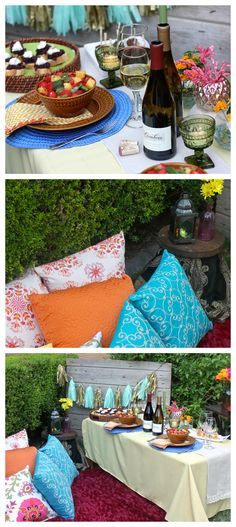 Tapas Date Night - Recipes and Decor for a night in the backyard. #datenight #entertaining #tapas #recipes