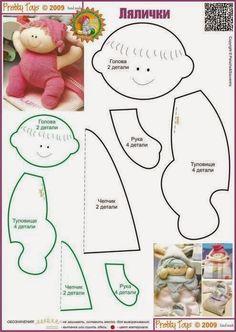 Ateliê Lucia Cabete: Bebezinho com molde.