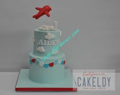 gumpaste (fondant) airplane topper for cake
