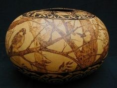 This is a gourd.  Gourd Art by amerris.  The only thing I managed to do with mine was rub them with some shoe polish.