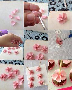 : Cómo hacer flores sencillas de fondant, el rosa nuestro color