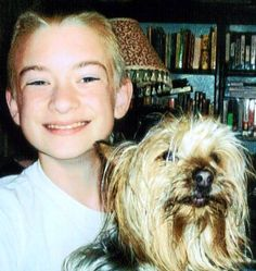 My son, Jesse Allen, (7/16/94--4/18/06), with our Yorkie, Charlie (who also went to Heaven). I miss you, son.