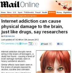 It's official! Internet overuse causes brain damage! Oh wait...no, it doesn't...