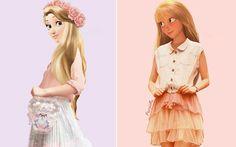 """Ilustradora desenha princesas da Disney com roupas """"normais"""" - Moda - CAPRICHO"""