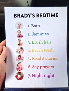 Bed time routine. Hmmm this might just help my little guy.