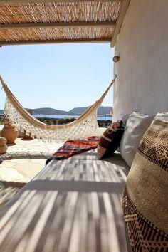 cycladic outdoor living room