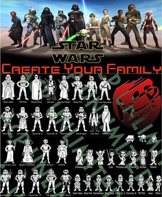 Star Wars Stick Figure Family Member Vinyl Decal Sticker For Car Window Laptop Wall. Han Solo Leia, Family Car Stickers, Adventure Car, Stick Figure Family, Star Wars Decor, Stick Figures, Vinyl Decals, Stars, Family Cars