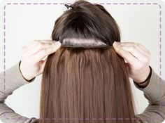 Tips for clipping in hair extensions for fine hair  Our first tip is to spray your hair with hairspray or dry shampoo- this will create text...