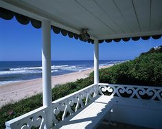 The enchanting view from an oceanfront gazebo in East Hampton, NY. Photo by Brown Harris Stevens of the Hamptons.
