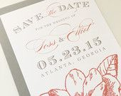 Magnolia Save the Date - Rustic Save the Date, Flower, Traditional, Classic, Marquee, Magnolia, Calligraphy, Vintage, Rustic, Southern