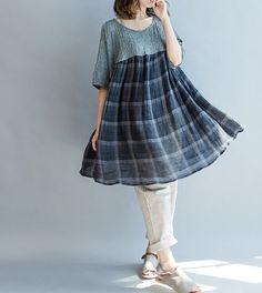 Summer oversized loose Long doll Shirt por MaLieb en Etsy