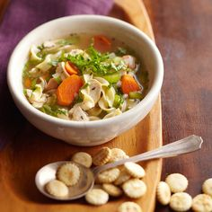 How to Make Chicken-Noodle Soup....pinned for the video on browning the chicken and softening the veggies