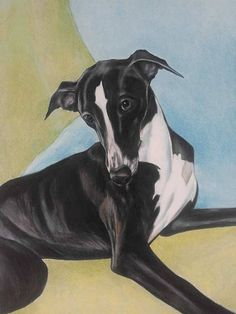 Custom listing for Laurie Only. Whippet art whippets
