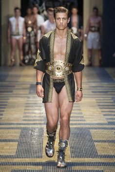 Spartacus?  Coming soon to OUT tv?  Here is a look at Versace for summer 2013.
