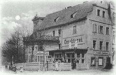 Budynek na rogu ul. Długiej i pl.Niepodległości. Koniec XIX wieku.