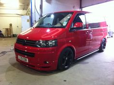 Red VW T5 Perfection