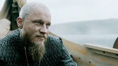 "Vikings on HISTORY The stare down. Ragnar called to duty, had to flinch and gives Floki a smile as if to say ""it appears that you win."""