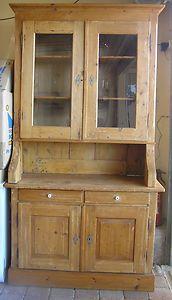 Antique Kauri Pine Kitchen Dresser Hutch Buffet Sideboard Cupboard Storage