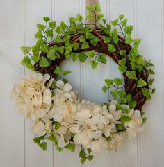 Gorgeous OOAK chic off-white hydrangea wreath , year round elegant wreath ,made in Italy unique home sign,classy housewarming gift