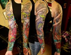 Jay Marceau - Tattoo Artist from Quebec City — Work Quebec City, Sleeve Tattoos, Tattoo Artists, Jay, Sleeves, Tattoo Sleeves, Quebec, Arm Tattoo, Cap Sleeves