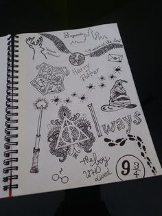 Ideas Quotes Tattoo Ideas Harry Potter For 2019 Harry Potter Journal, Harry Potter Diy, Harry Potter Kunst, Harry Potter Sketch, Harry Potter Drawings, Harry Potter Theme, Harry Potter Facts, Harry Potter Quotes, Harry Potter World
