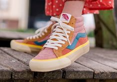 Vans Brings The Multi-colored Suedes To Their LX Trim Vans Sneakers, High Top Sneakers, Converse, High Top Vans Outfit, Vans Shoes Women, Womens Nmd, Nike Flyknit Racer, Girls Football Boots, Aesthetic Shoes