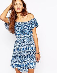 Abercrombie & Fitch Off The Shoulder Peasant Dress
