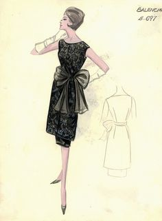 Balenciaga Cocktail Dress by FIT Library Department of Special Collections, via Flickr