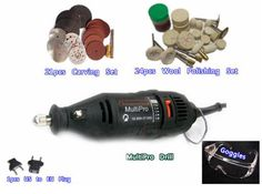 DREMEL MultiPro Drill with Carving Grinding & Polishing Accessories Carving…