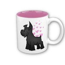 Schnauzer Love (black) Mugs
