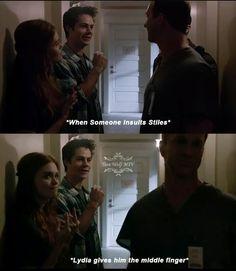 Teen wolf season 4 episode 6 Stiles and lydia