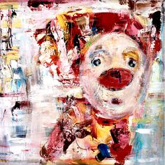 Marianne Aulie - Optimist Clown Images, Clowns, Art Work, 2d, Abstract Art, Mixed Media, Posters, Paintings, Fine Art