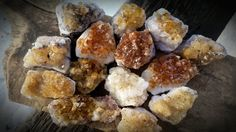 "Sparkly Citrine Clusters- The ""Success Stone,"" manifest prosperity in your life now!"