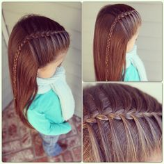 Simple and lovely mermaid braid Baby Girl Hairstyles, Princess Hairstyles, Pretty Hairstyles, Braided Hairstyles, Perfect Hairstyle, Young Girls Hairstyles, Toddler Hairstyles, Mermaid Braid, Hair Dos